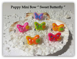 "HundeHaarSpange Mini Puppy Bow   "" Sweet Butterfly    """