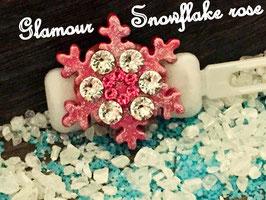 """Hundespange """" VIP Glamour Snowflake """" Nr 2 pink"""