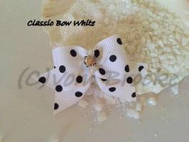 """Schleife """" Classic Bow White  """""""