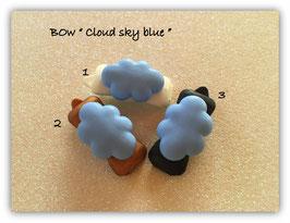 """HundeHaarSpange Auf Wolke 7 """" Blue Cloud ohne Gesicht  """""""