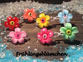 """WelpenHundehaarSpange Blume  """" Sommerblümchen mit SWK """""""