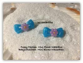 """Süße Baby Schleifchen  """"Mini Blume Wasserblau """"  / Puppy """" Mini Flower waterblue """""""