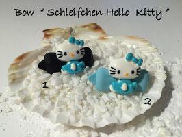 "HundeHaarSpange  Hello Kitty "" Schleifchen Hello Kitty  blau mehrfarbig """