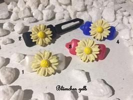 """HundehaarSpangen """" Blumen Blümchen groß Gelb Nr 4"""