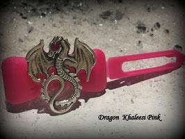 "Dragon Time   "" Dragon Silber mit  Pinkem SWK Auge """