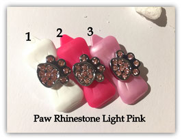 """HundeHaarSpange mit MetallApplikation """" Special Edition Paw Light Pink  """""""