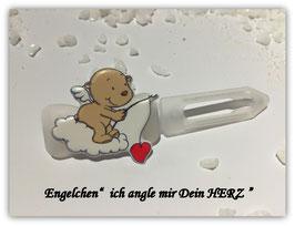 """HundeHaarSpange """" Engelchen  , ich angle mir Dein Herz """""""