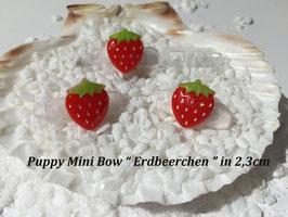 """HundeHaarSpange Mini Puppy Bow   """"  Erdbeerchen """""""