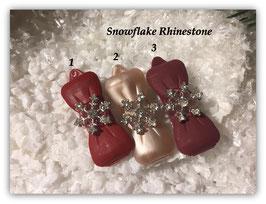 """HundeHaarSpange """" Snowflake  Rhinestone """""""