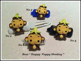 "HundeHaarSpange  Affe "" Happy Puppy Monkey """