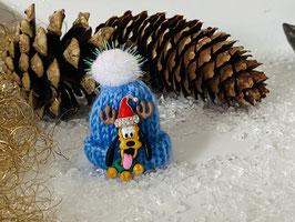 Wintermützchen mit Pluto und Mützchen mit Rhinestone blau