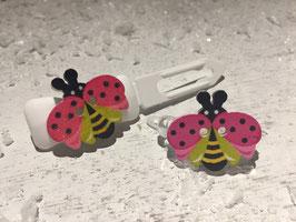 "Mini-Preis-Hundehaarspange "" Pinker Schmetterling """