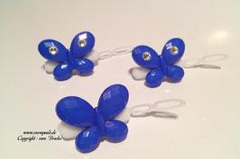 SchmetterlingWelpen HundehaarSpange  Nr. 8 dunkelblau mit und ohne  SWK