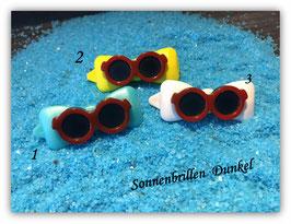 """HundehaarSpange """" Bunte Sonnenbrillen """"  Nr . 4"""
