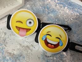 """Emotion / Smiley HundeHaarSpange  """" 2er Set 4 """""""