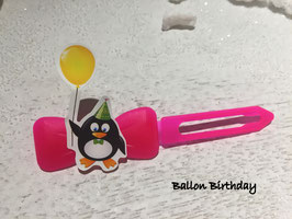 "HundeHaarSpange  Pinguin  "" Ballon Birthday   """