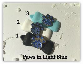 "HundeHaarSpange mit MetallApplikation "" Special Edition Light Blue """