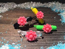 """WelpenHundehaarSpange Blume 2,7cm   """" Gänseblümchen Pink """""""