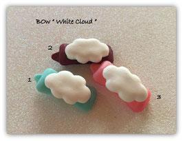 """HundeHaarSpange Auf Wolke 7 """" White Cloud ohne Gesicht"""""""