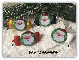 """WeihnachtsMotiv HundeHaarSpange """" Snowman Santa """""""