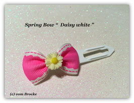 "Ausstellungs- / Stoffschleife  "" Spring Bow  Daisy  White"" No 1"