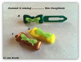 """Hundehaarspange """" Sonnenbrille Crazy grün  """""""