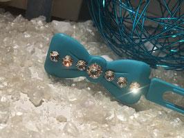 "Kunststoff HundehaarSpange/ SWK "" Glamour American Butterfly Dog Bows Schwarz 7 SWK Kristall Nr. 4  """