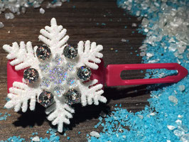"Limitierte Edition:  HundehaarSpange Schneeflocke  : "" VIP Glamour Snowflake Crystal """