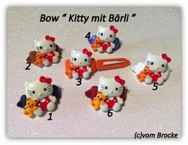 """HundeHaarSpange  Hello Kitty """" Kitty mit Bärchen  """""""