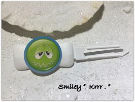 """Emotion / Smiley HundeHaarSpange  """" Krrrrrr  """""""