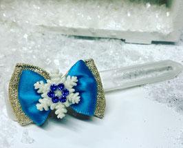 Schneeflocken Schleifen blau 3