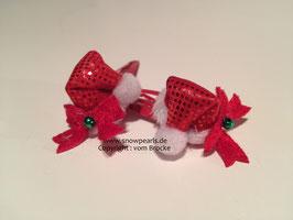 Minizipfelmütze  rot  mit Klammer