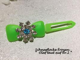 HundehaarSpange Schneeflocke Frozen Olaf taut  auf Nr. 2