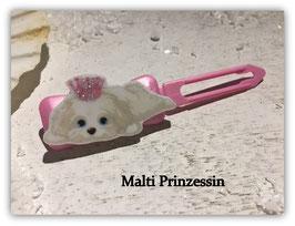 "HundeMotivHaarSpange  "" Malteser Malti Prinzessin """