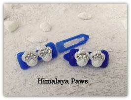 """HundeHaarSpange  """" Himalaya Glitter Paws Royalblau Crystall """""""