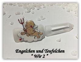 """HundeHaarSpange """" Engelchen  und Teufelchen  WIr 2  """""""