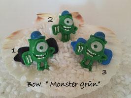 "Bunte Halloween HundehaarSpangen "" Nr 18 Monstr grün  """