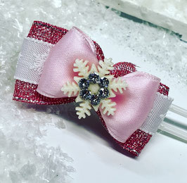 SchneeflockenSchleife rosa 2