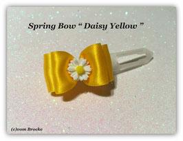 "Ausstellungs- / Stoffschleife  "" Spring Bow Yellow Daisy """