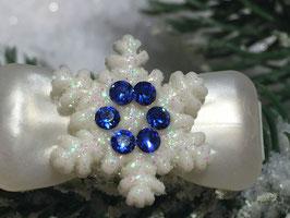 """Snowflake """" White Glamour """" Blue  """" mit Swarovski Elemente"""