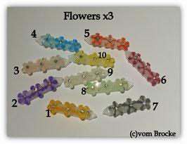 "HundehaarSpange "" Daisy Flowers x3 """