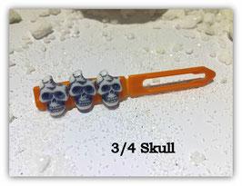 HundeHaarSpange  Limted Edition !!!! Skulls (3 )  3/4 Skull perlmut gold