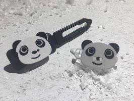 "Mini-Preis-Hundehaarspange "" Pandakopf """