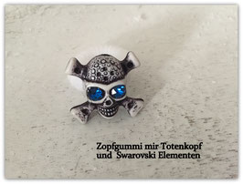 "Zopfgummi "" Mystic Skull in Blue """
