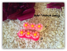 HundeHaarSpange Blume rosa  Nr. 8  French Daisy(3)