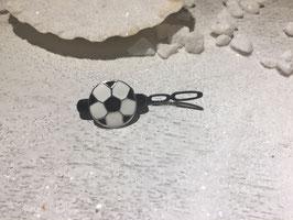 "Fußball Puppy/Welpen HaarSpangen  "" Welpen2,7cm Fußball Metall """