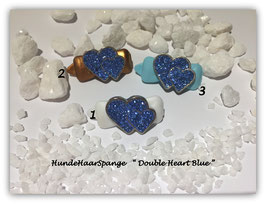 "HundeHaarSpangen "" Valentine´s Day Heart Blue Crystal """