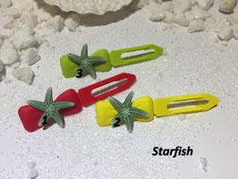 """HundehaarSpange Meer  """" Seestern  grün/ Starfish  """""""