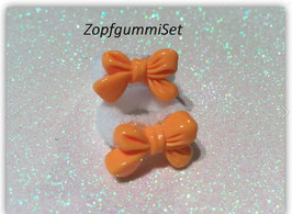 Zopfgummi Set Schleifchen orange