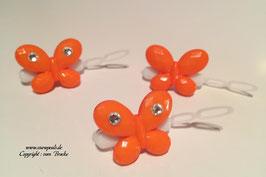 SchmetterlingWelpen HundehaarSpange  Nr. 6 orange  mit und ohne  SWK